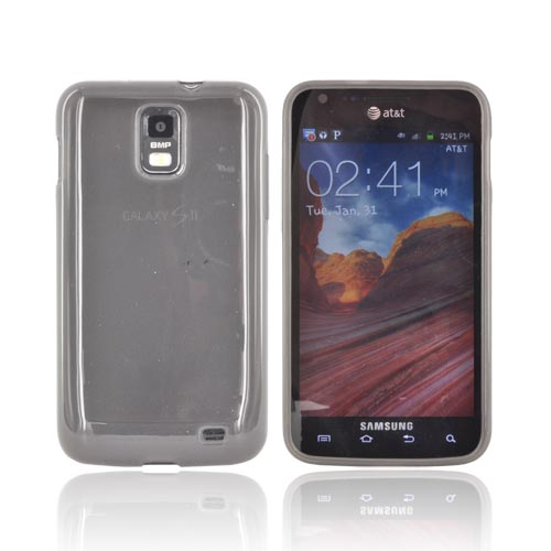 Samsung Galaxy S2 Skyrocket Crystal Silicone Case - Smoke