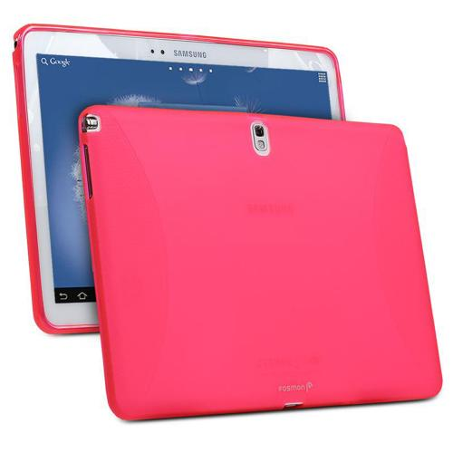 Hot Pink Crystal Silicone Skin Case for Samsung Galaxy Note 10.1 2014 Edition