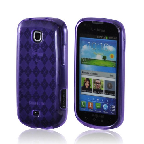 Samsung Galaxy Stellar Crystal Silicone Case - Argyle Purple