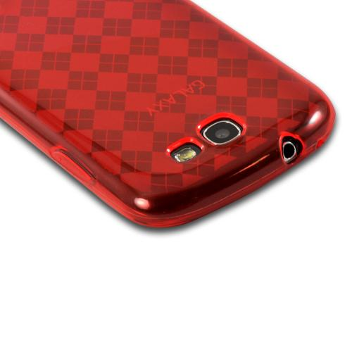 Red Argyle Crystal Silicone Case for Samsung Galaxy Express