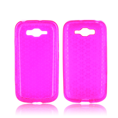 Samsung Focus 2 Crystal Silicone Case - Pink Hex Star