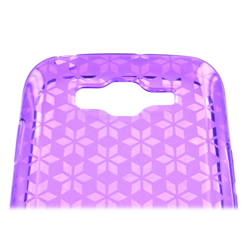 Samsung Focus 2 Crystal Silicone Case - Purple Hex Star