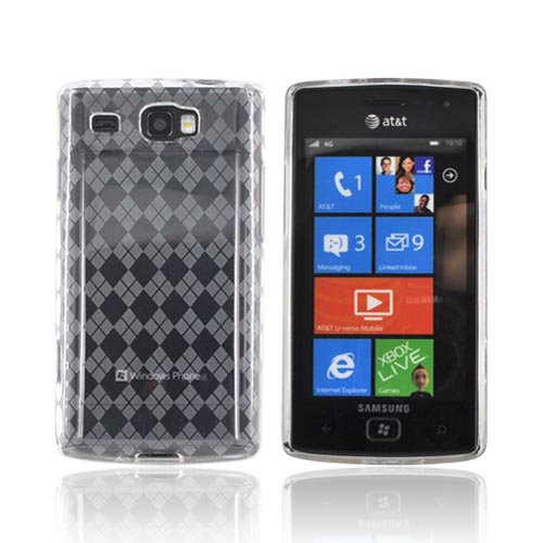 Samsung Focus Flash i677 Crystal Silicone Case - Argyle Clear
