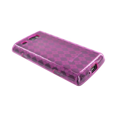 Samsung Focus Flash i677 Crystal Silicone Case - Argyle Hot Pink