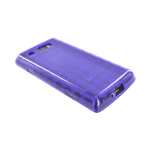 Samsung Focus Flash i677 Crystal Silicone Case - Argyle Purple