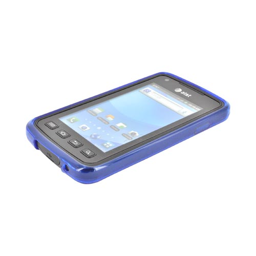 Samsung Rugby Smart i847 Crystal Silicone Case - Argyle Blue