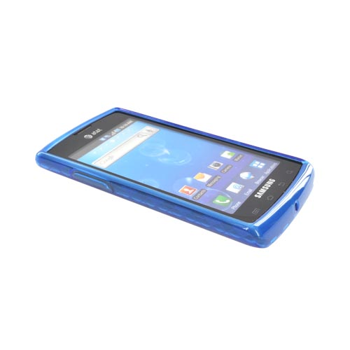 Samsung Captivate i897 Crystal Silicone Case - Argyle Blue