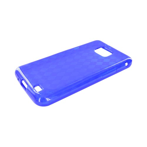 AT&T Samsung Galaxy S2 Crystal Silicone Case - Blue Argyle