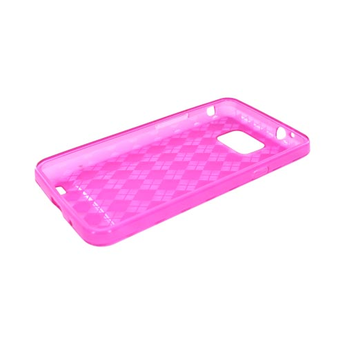 AT&T Samsung Galaxy S2 Crystal Silicone Case - Pink Argyle