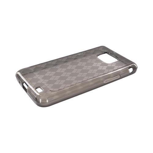 AT&T Samsung Galaxy S2 Crystal Silicone Case - Smoke Argyle