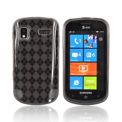 Samsung Focus i917 Crystal Silicone Case - Transparent Smoke Argyle