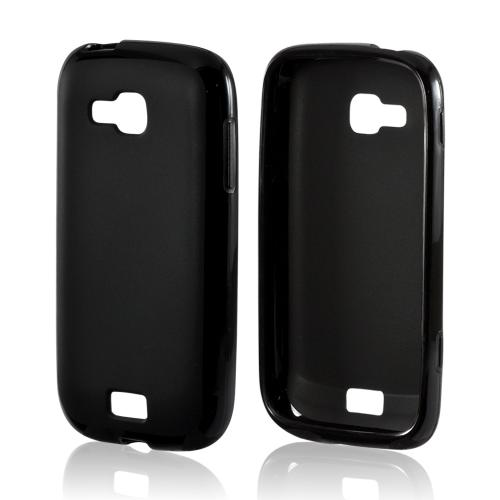 Black Matte Crystal Silicone Case w/ Polished Border for Samsung ATIV Odyssey