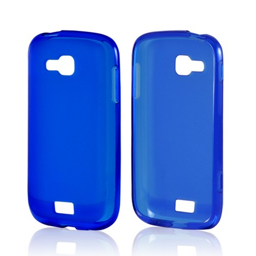 Blue Matte Crystal Silicone Case w/ Polished Border for Samsung ATIV Odyssey