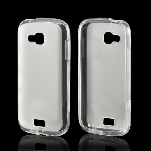 Clear Matte Crystal Silicone Case w/ Polished Border for Samsung ATIV Odyssey