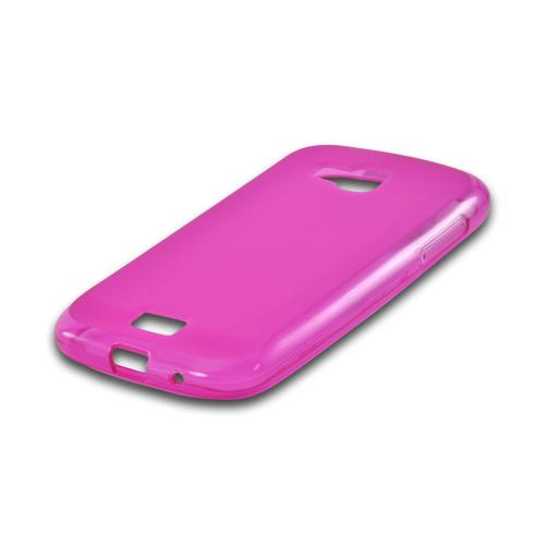 Hot Pink Matte Crystal Silicone Case w/ Polished Border for Samsung ATIV Odyssey