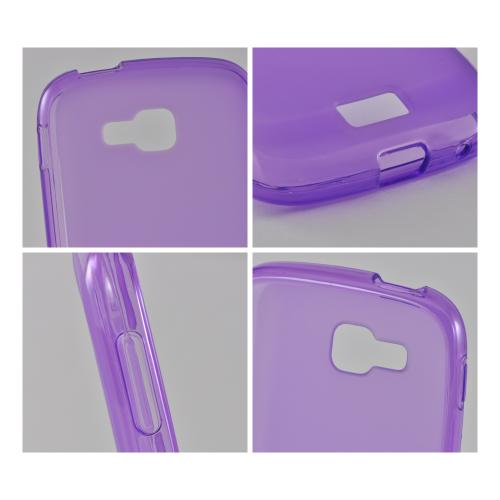 Purple Matte Crystal Silicone Case w/ Polished Border for Samsung ATIV Odyssey