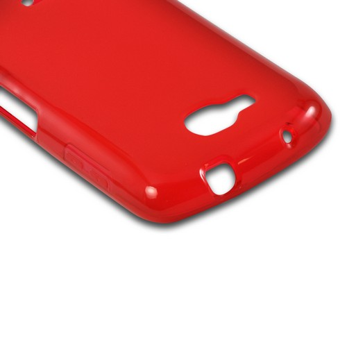 Red Crystal Silicone Case w/ Polished Border for Samsung ATIV Odyssey