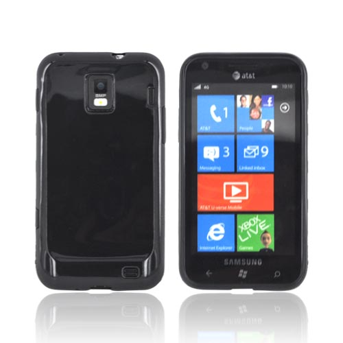 Samsung Focus S i937 Crystal Silicone Case - Black (Argyle Interior)
