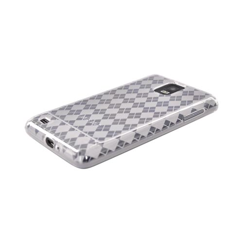 Samsung Infuse 4G i997 Crystal Silicone Case - Clear Argyle