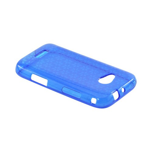 Samsung Galaxy Victory 4G LTE Crystal Silicone Case - Blue Hex Star