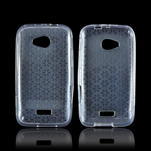Samsung Galaxy Victory 4G LTE Crystal Silicone Case - Clear Hex Star
