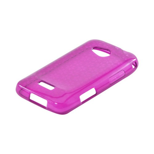 Samsung Galaxy Victory 4G LTE Crystal Silicone Case - Purple Hex Star