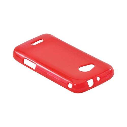 Samsung Galaxy Victory 4G LTE Crystal Silicone Case - Red Hex Star