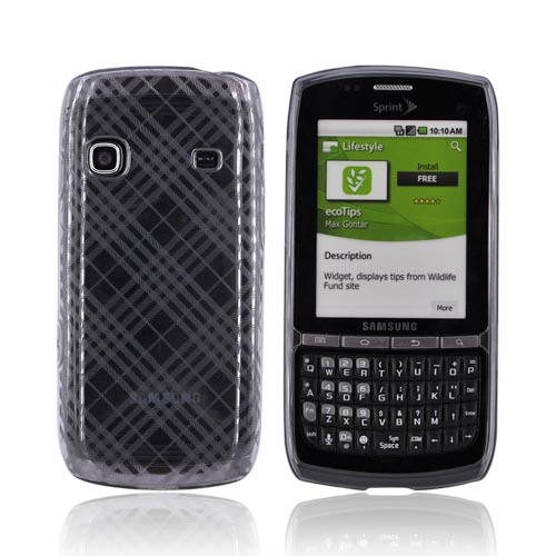 Samsung Replenish M580 Crystal Silicone Case - Argyle on Smoke