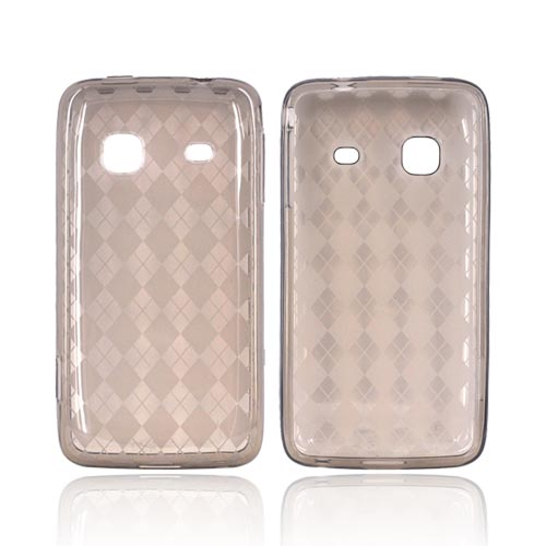 Samsung Galaxy Prevail M820 Crystal Silicone Case - Smoke Argyle