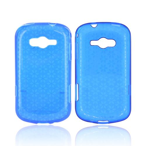 Samsung Galaxy Reverb Crystal Silicone Case - Blue Hex Star