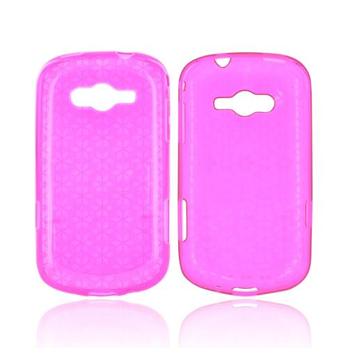 Samsung Galaxy Reverb Crystal Silicone Case - Hot Pink Hex Star