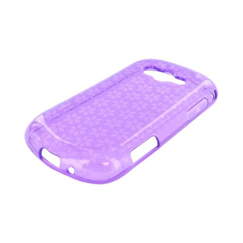 Samsung Galaxy Reverb Crystal Silicone Case - Purple Hex Star