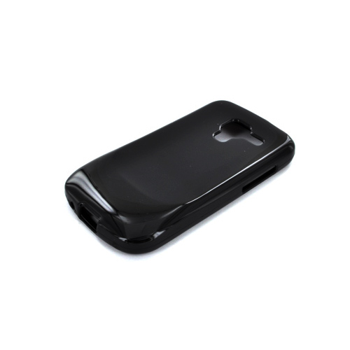Samsung Exhilarate i577 Crystal Silicone Case - Argyle Black