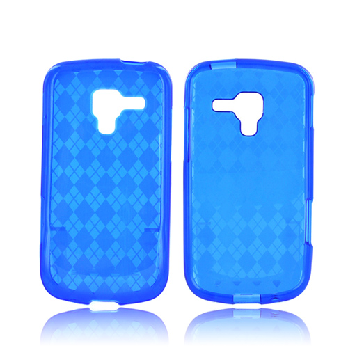 Samsung Exhilarate i577 Crystal Silicone Case - Argyle Blue