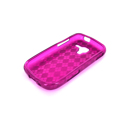 Samsung Exhilarate i577 Crystal Silicone Case - Argyle Purple