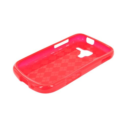 Samsung Exhilarate i577 Crystal Silicone Case - Argyle Red