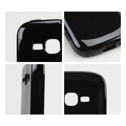 Black Crystal Silicone Skin Case for Samsung Galaxy Ring/ Galaxy Prevail 2
