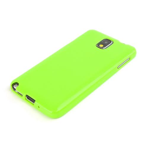 Lime Green Crystal Silicone Skin Case for Samsung Galaxy Note 3