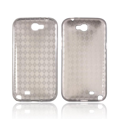 Samsung Galaxy Note 2 Crystal Silicone Case - Argyle Smoke