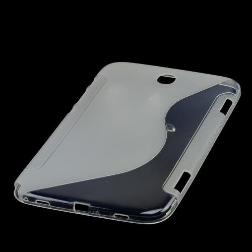 Clear/ Frost White S Crystal Silicone Case for Samsung Galaxy Note 8.0