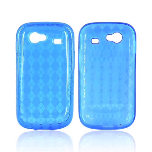 Google Nexus S Crystal Silicone Case - Argyle Design on Blue