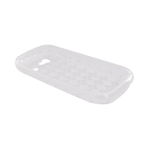 Google Nexus S Crystal Silicone Case - Argyle Design on Clear