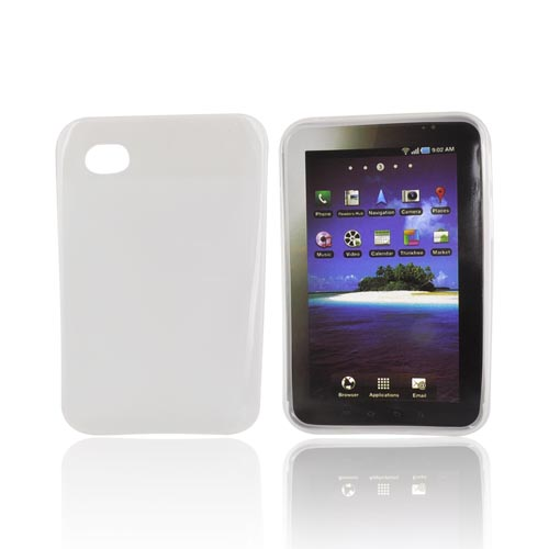 Samsung Galaxy Tab P1000 Crystal Silicone Case - Frost White