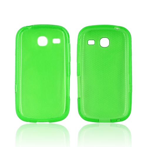 Samsung Freeform 3 Crystal Silicone Case - Airplane Print on Green