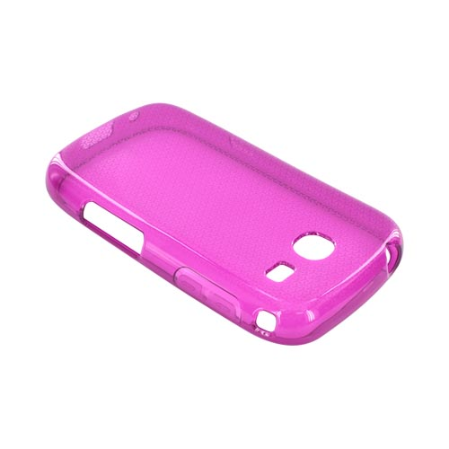 Samsung Freeform 3 Crystal Silicone Case - Airplane Print on Magenta