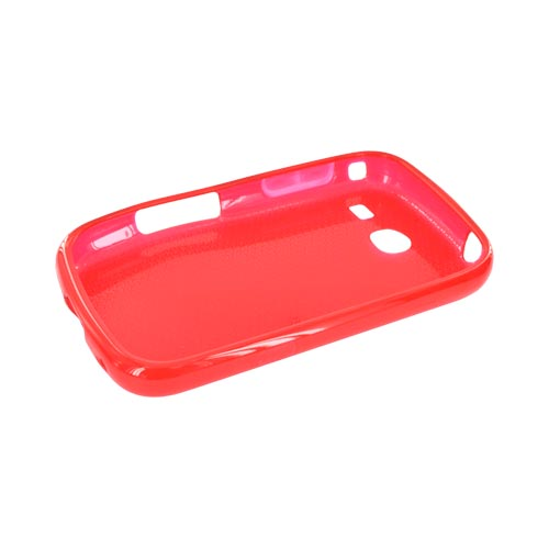 Samsung Freeform 3 Crystal Silicone Case - Airplane Print on Red