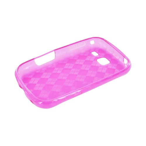 Samsung Freeform 3 Crystal Silicone Case - Argyle Hot Pink