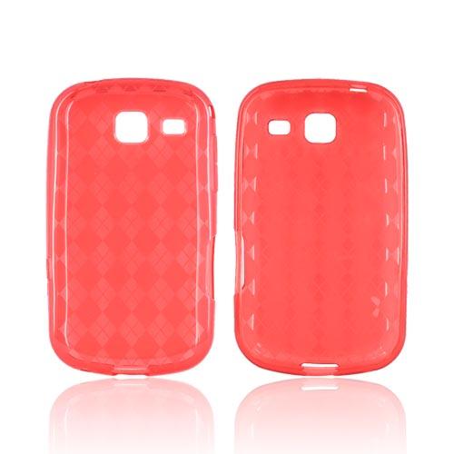 Samsung Freeform 3 Crystal Silicone Case - Argyle Red
