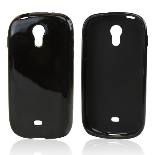 Black Crystal Silicone Skin Case for Samsung Galaxy Light