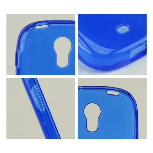 Blue Crystal Silicone Skin Case for Samsung Galaxy Light